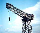 Giant crane, preserved harbour. Firth of Clyde, Greenock. Scotland