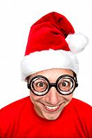 Santa Claus, fun_glasses, black, facial expression, portrait, series, people, man, disguise, Santa Claus_cap, glasses, enlargement, fun, humor, enjoym...
