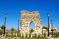 Old church ruins. Castillo de Garcimuñoz. Cuenca. Castilla-La Mancha. Spain.