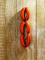 Sausages hanging on fence (thumbnail)