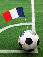 French Flag on Top of Soccer Ball