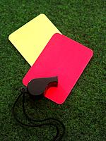 Whistle on yellow and red cards