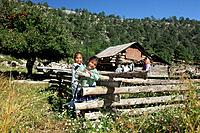 Mexico, Central America, America, Tarahumara family, near San Rafael, Copper Canyon, Barranca del Cobre, State of Chih
