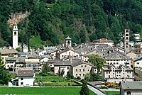 Switzerland, Europe, Poschiavo, Canton Grisons, Graubunden, Grisons, village, churches