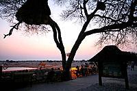 Namibia, Africa, Etosha, national park, Summer 2007, Africa, observation area, wild animals, elephants, elephant, tour