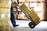 Man Working in Warehouse
