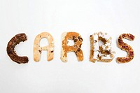 The word carbs made out of food