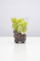 Grapes in a fast food container