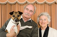Couple with their pet dog
