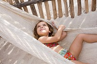 A girl on a hammock