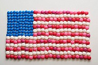 An american flag made out of sweets