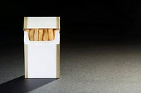 Chips in a cigarette packet