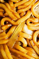 Close up of lo mein