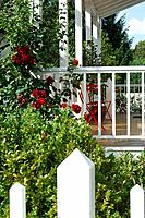 Veranda with colourful flowers (thumbnail)