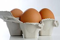 Egg carton with eggs