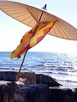 Parasol at the sea