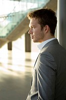 Side profile of a businessman