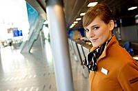 Portrait of a female airline check_in attendant smiling