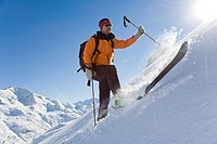 Person skiing, Arlberg, Austria