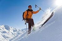 Person skiing, Arlberg, Austria