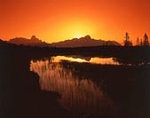 Sunset over mountain, Dachsteingruppe, Gosaukamm, Pongau, Salzburg, Austria