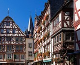Timber framed houses in row, Germany