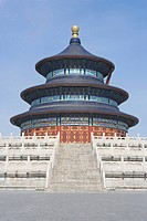 Stairs in front of pagoda against clear sky, Temple Of Heaven, Beijing, China