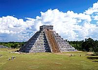 Yucatan. Chichen Itza City. The Castle Piramid . Mexico.