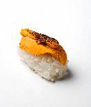 Flame_torched uni nigiri sushi
