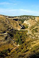 Barranco del Rio Dulce Natural Park. Guadalajara province. Spain