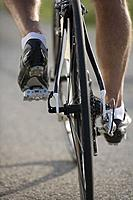 Detail of a cyclist pedaling (thumbnail)