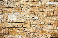 Detail of a large stone wall