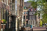 Street scene in Amsterdam Holland