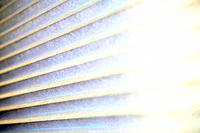 Abstract view of window blinds.