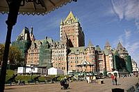 Frontenac Castle, now a luxury hotel. Quebec City. Canada