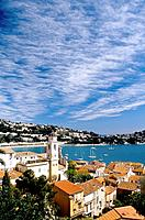 The coastal village of Villefranche-sur-Mer. Alpes Maritimes, France