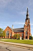 Historic St Pauls Evangelical Lutheran Church in downtown Fort Wayne Indiana