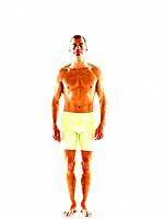 Mature man in fitness shorts (thumbnail)