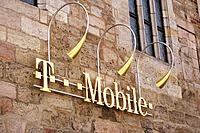 T-Mobile logo. Nuremberg. Germany