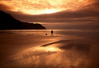 Maghera Strand, Ardara, County Donegal, Ireland, Beach at sunset