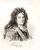 Louis XIV Louis Dieudonné 1638-1715 King of France and Navarre From the book Crabbs Historical Dictionary published 1825
