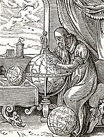 A German Astronomer and Cosmographist after a 16th century wood engraving by Jost Amman From Science and Literature in The Middle Ages by Paul Lacroix...
