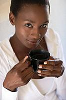 Woman enjoying cup of tea