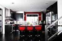 Bright modern open concept kitchen