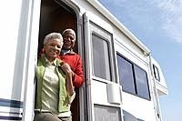 Couple in a camper