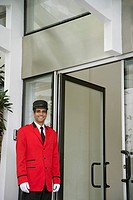 Happy doorman