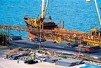 Ship docked at port