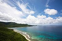 USA, Virgin Islands, St. John, Reef Bay, aerial view