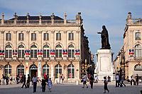 France, Lorraine, Nancy, Place Stanislas, Opera, Stanislas statue