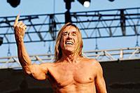 Venice 20/06/08. Parco S. Giuliano. Heineken Jammin´ Festival: the rock singer Iggy Pop & The Stooges
